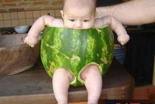 baby and water mellon