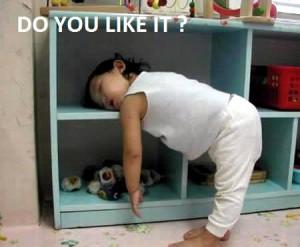 funny baby sleeping