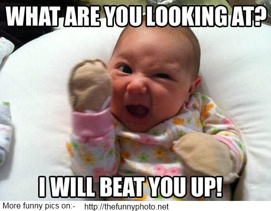 Funny picture of baby